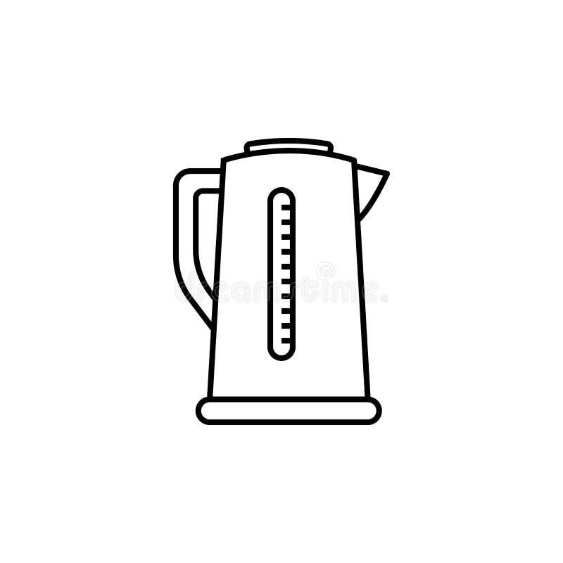 电水壶象 家电的元素流动概念和网apps的 网站设计和developmen的稀薄的线象 皇族释放例证