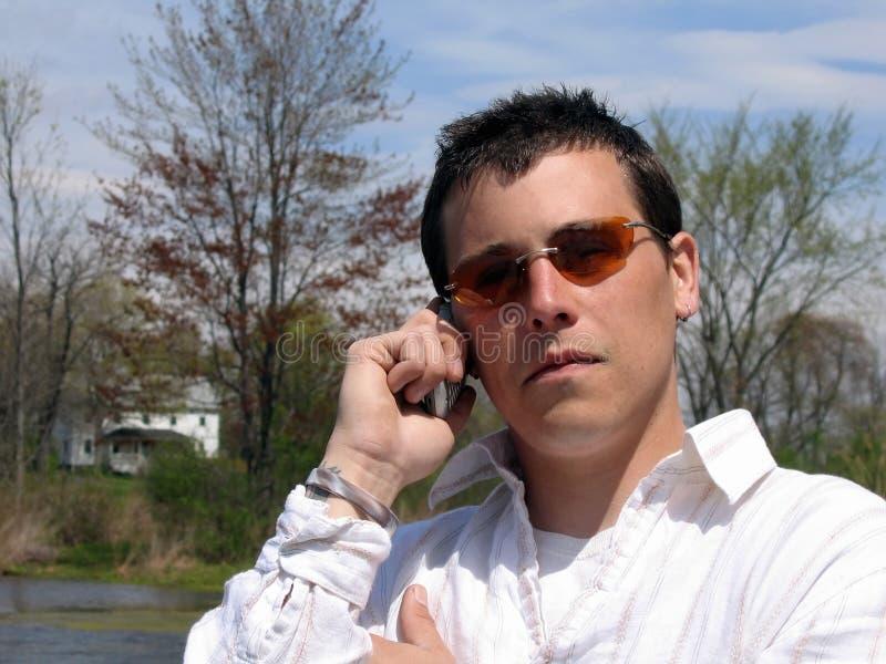 电池人电话 免版税图库摄影