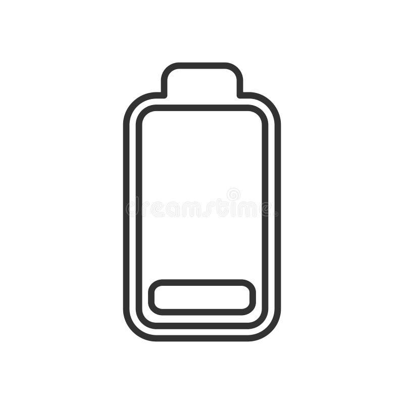 电池低能源显示概述象 皇族释放例证