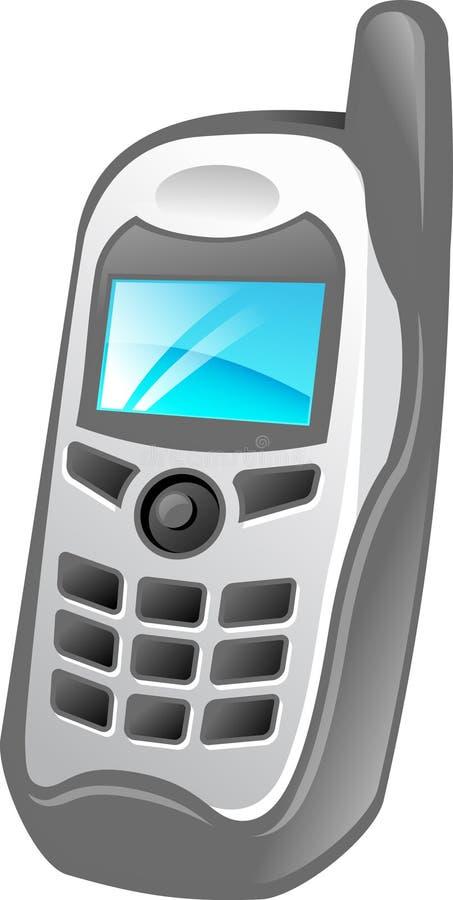 电池例证电话 库存图片