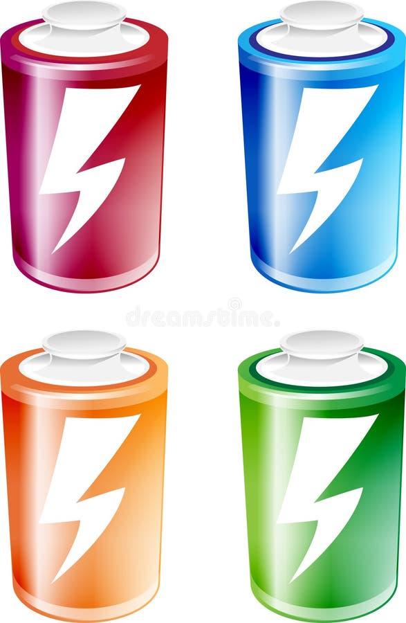电池例证 库存照片