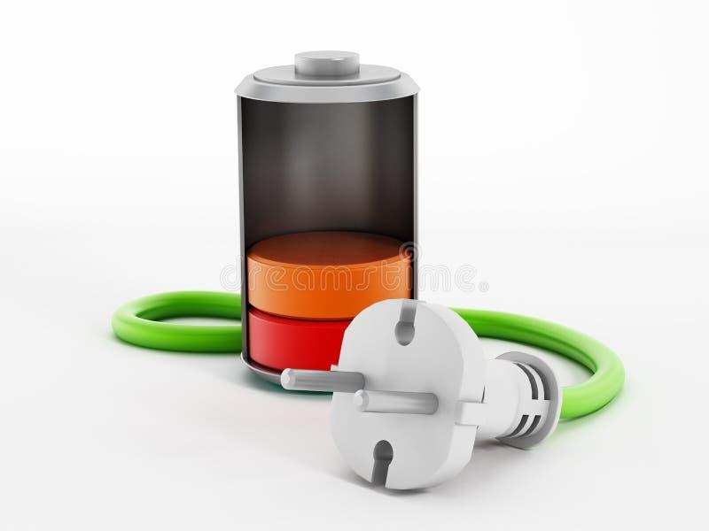 电池充电 库存例证