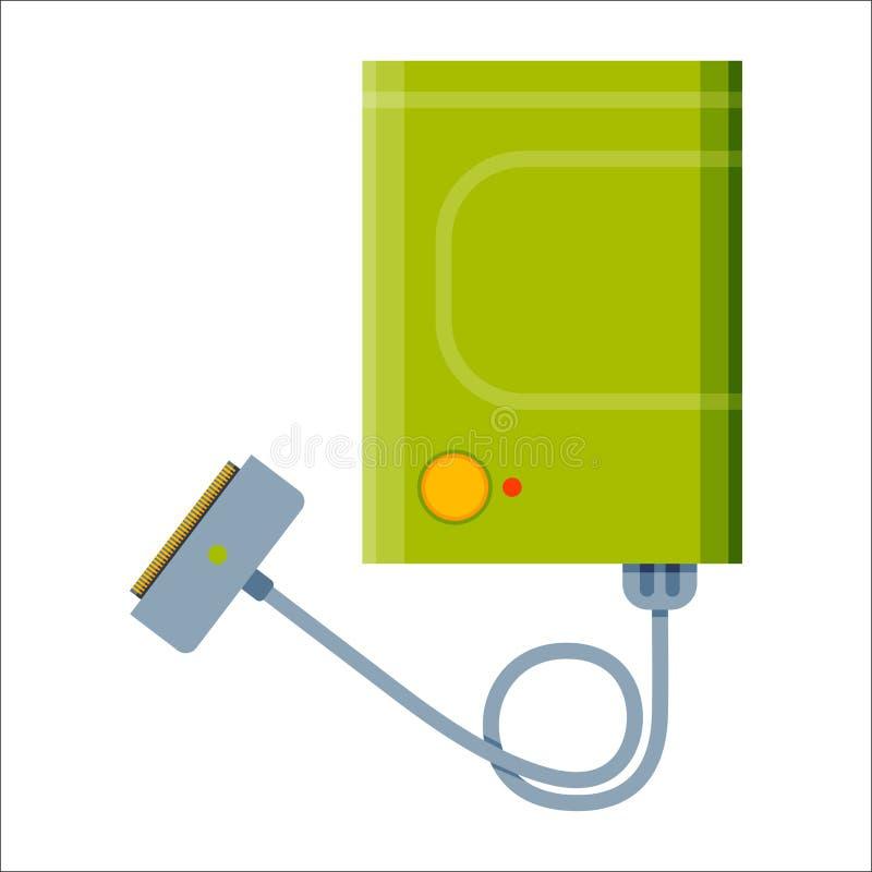电池功率银行能量电工具传染媒介例证 皇族释放例证