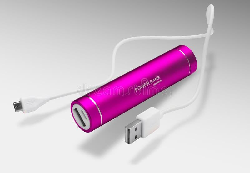 电池功率银行 免版税库存图片
