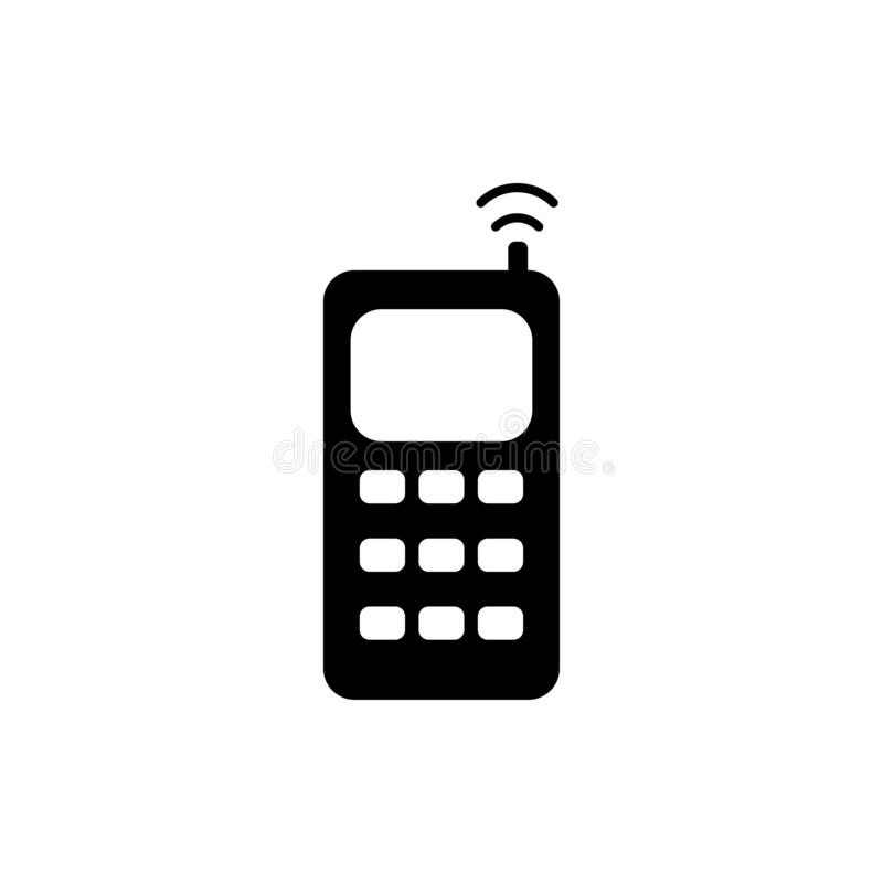电池图标电话红色系列 库存例证