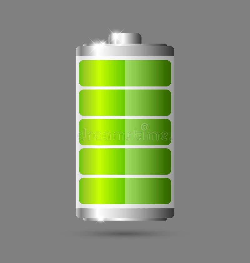 电池图标 皇族释放例证