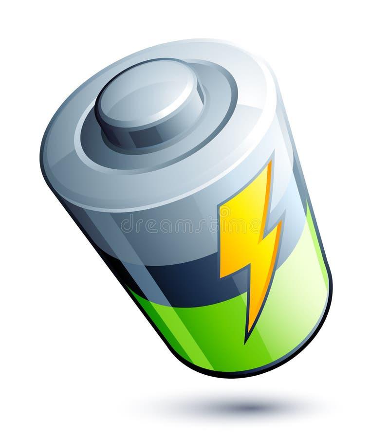 电池图标 向量例证