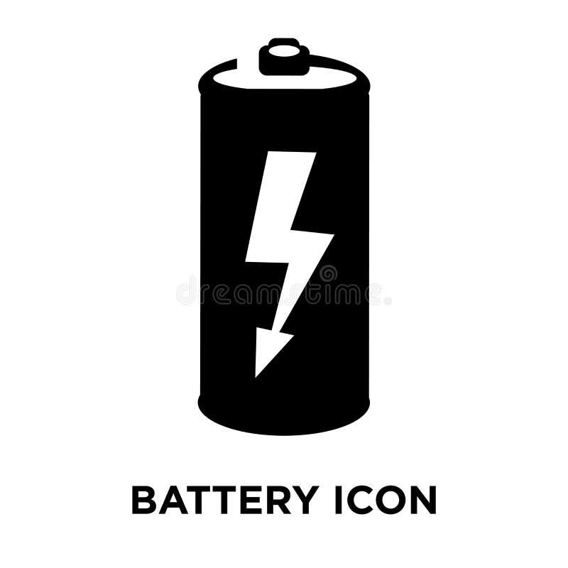 电池在白色背景隔绝的象传染媒介,商标概念o 库存例证