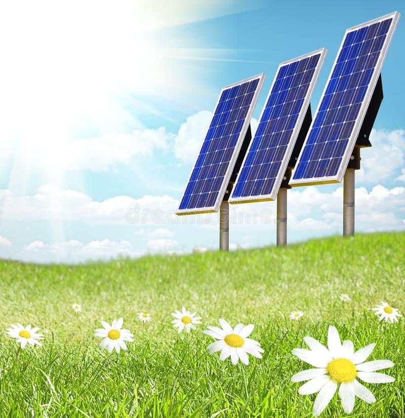 电池太阳阳光 免版税库存图片