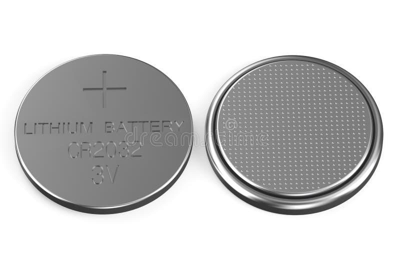电池按顶面和底视图 向量例证