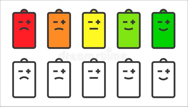 电池显示面带笑容象 库存例证