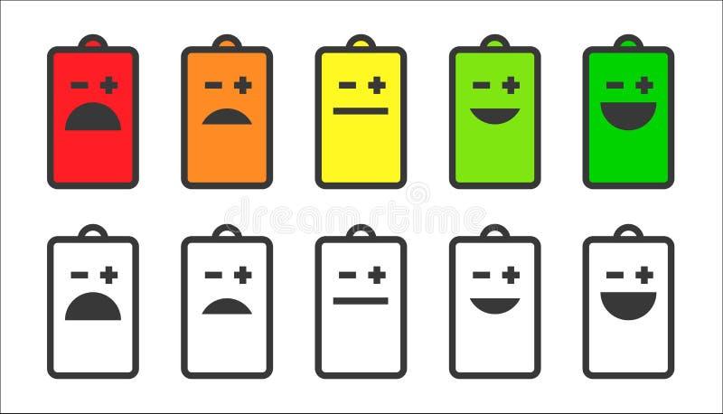 电池显示面带笑容象 向量例证