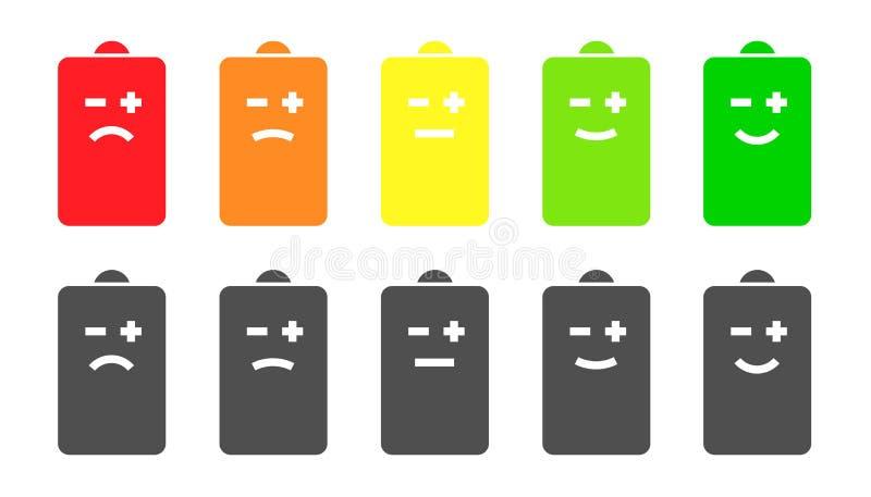电池显示面带笑容象 皇族释放例证