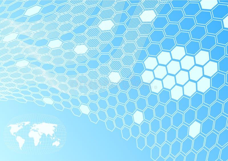 电池概念全球网络 向量例证