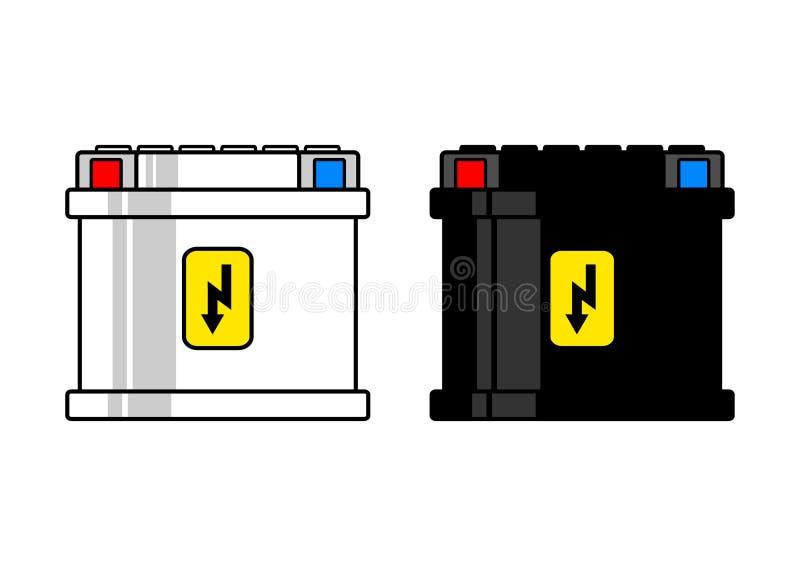 电池汽车 库存例证