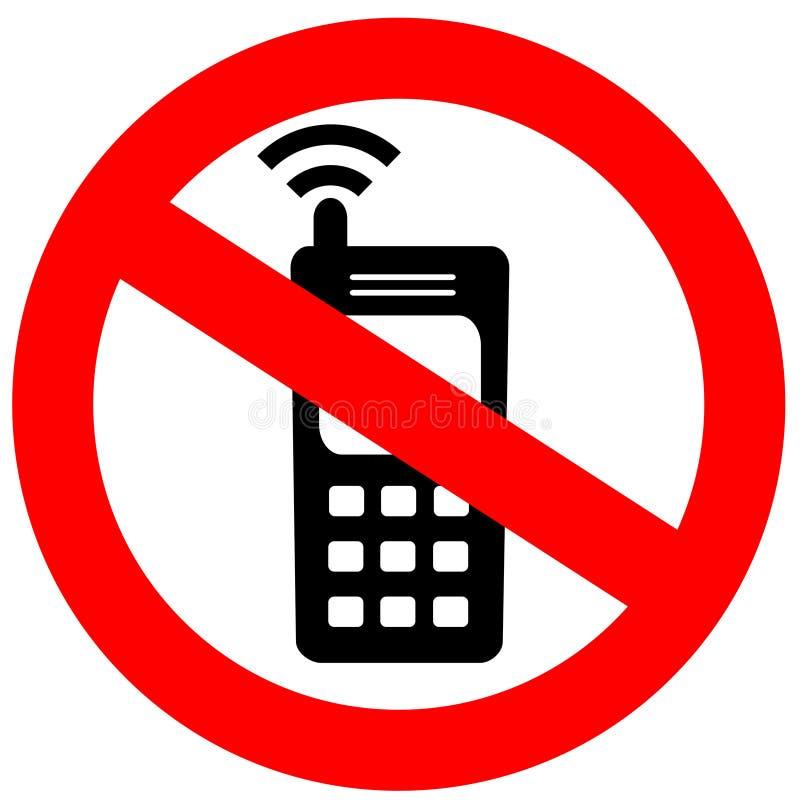 电池没有电话符号 库存例证