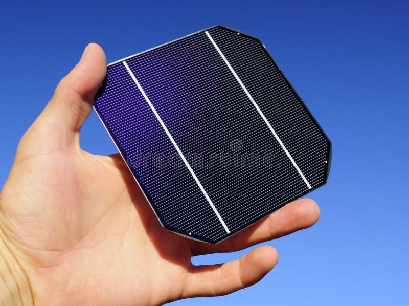 电池现有量原始太阳 图库摄影