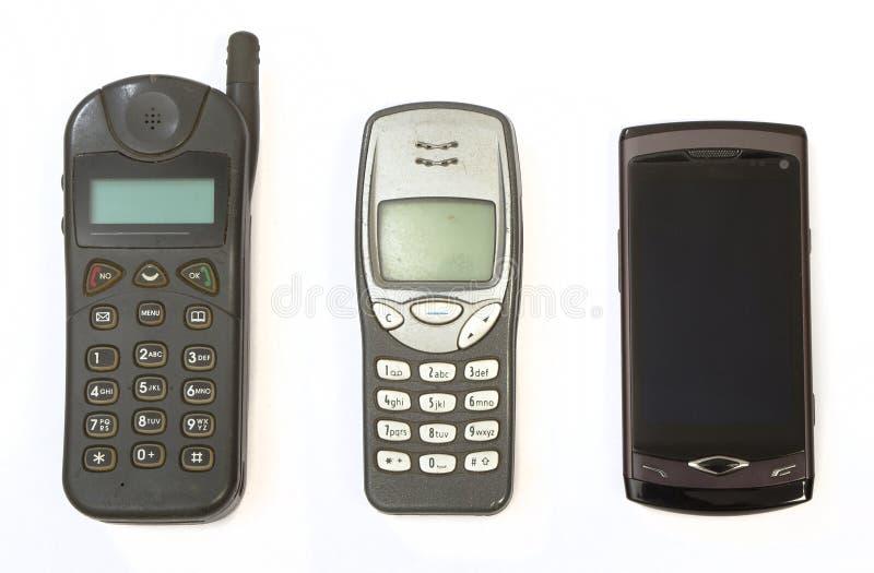 电池生成电话三 免版税库存图片