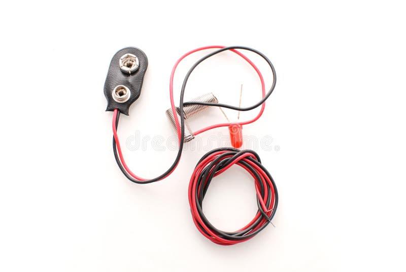 电池电子项目 图库摄影