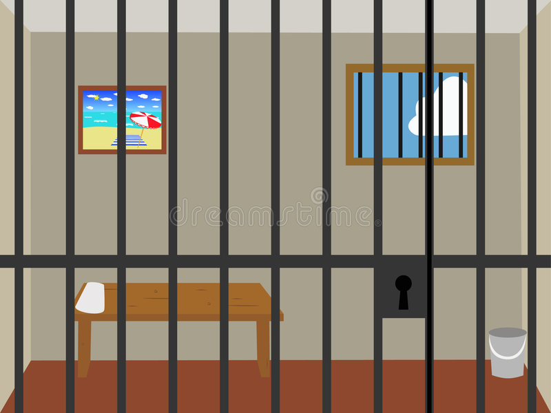 电池监狱 免版税库存图片