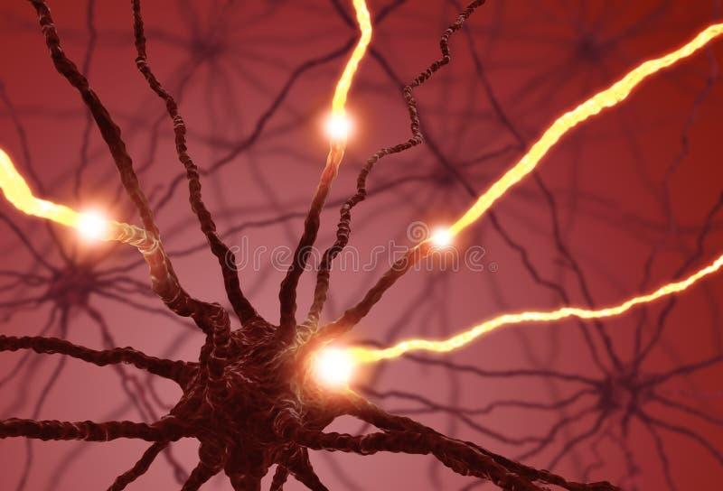 电池神经脉冲 免版税库存照片