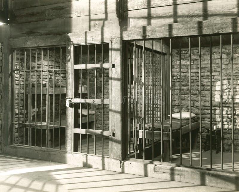 电池空的监狱 库存图片