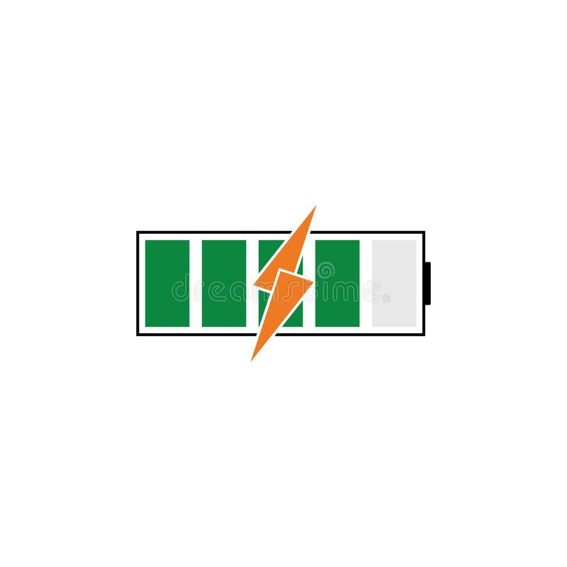 电池能量传染媒介商标模板 向量例证