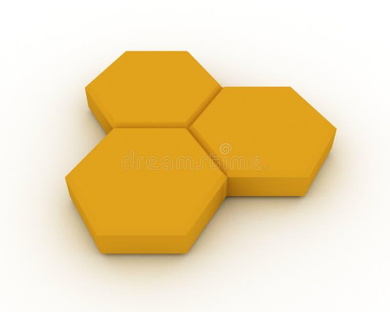 电池蜂蜜三 皇族释放例证