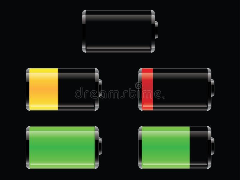 电池设置了发光 免版税库存照片
