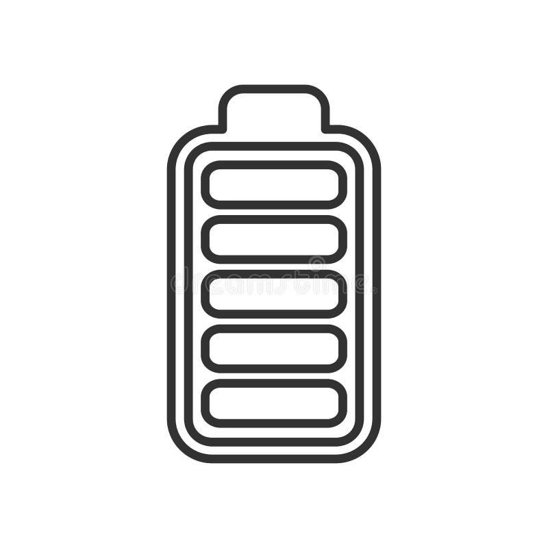 电池高能显示概述象 库存例证