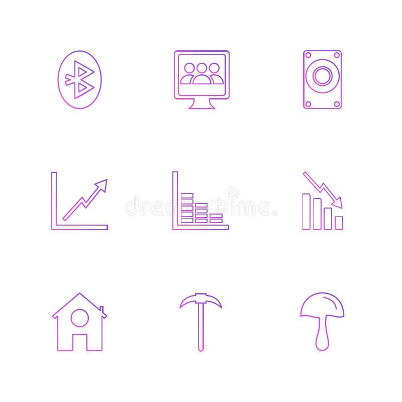 电池,份额,图,信号,连通性,被设置的eps象 向量例证