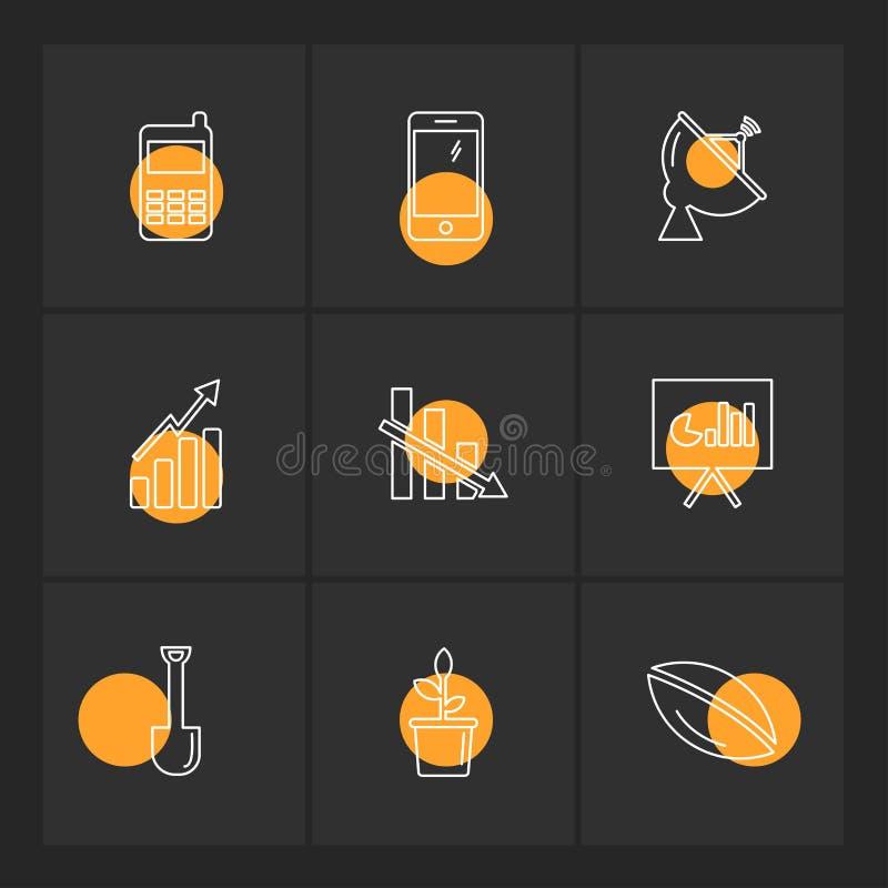 电池,份额,图,信号,连通性,被设置的eps象 皇族释放例证