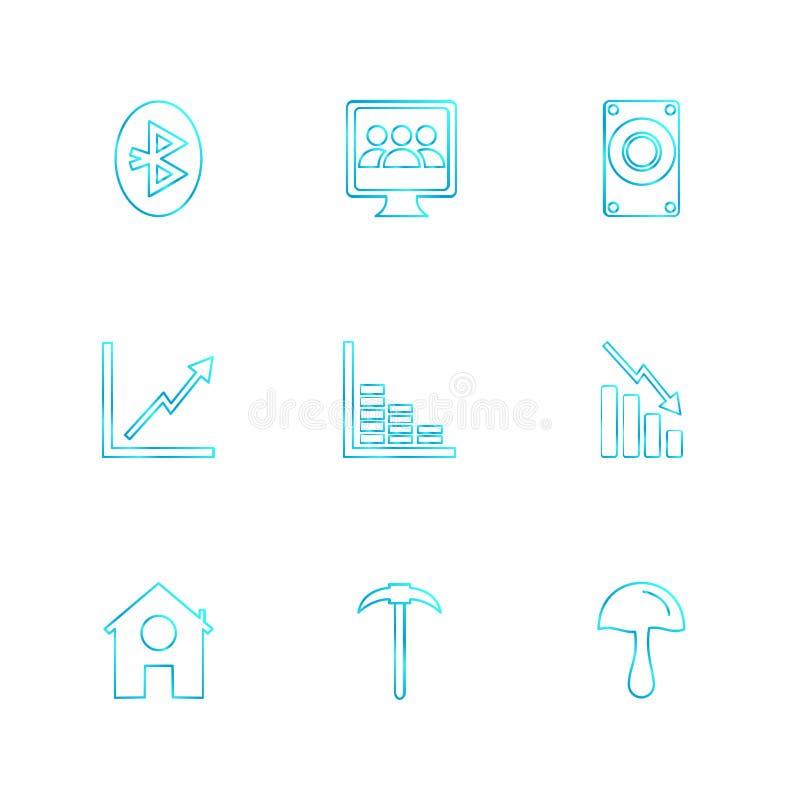 电池,份额,图,信号,连通性,被设置的eps象 库存例证