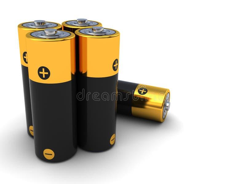 电池 皇族释放例证