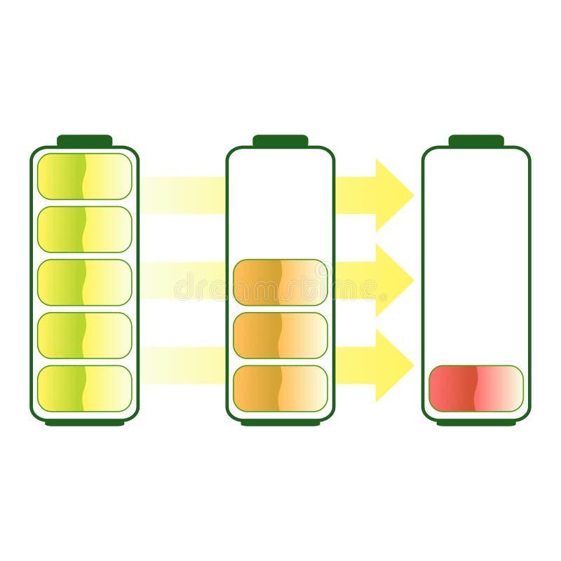 电池 库存例证