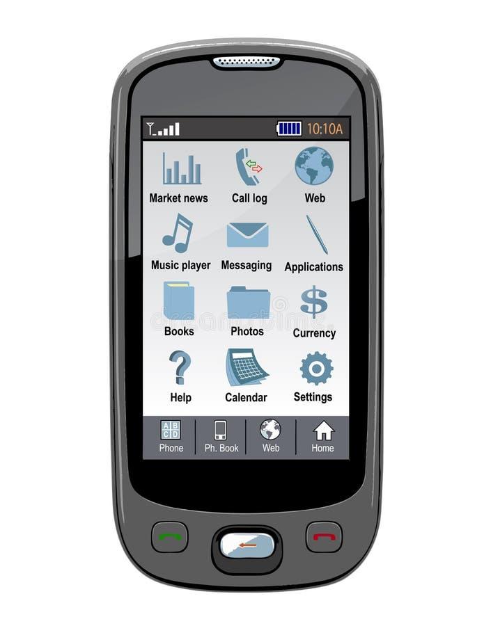 电池gps pda电话向量 库存例证