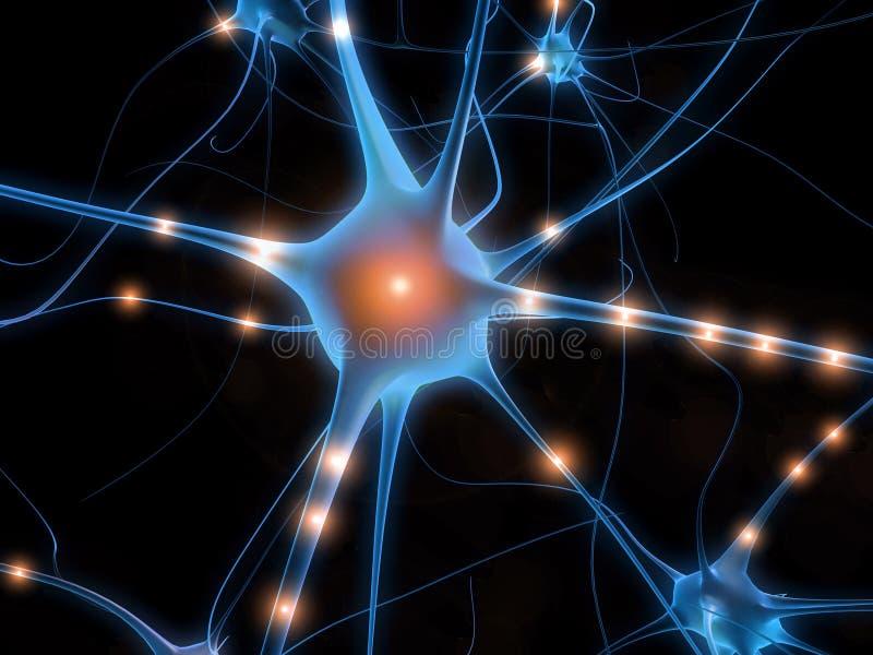 电池nerv 向量例证