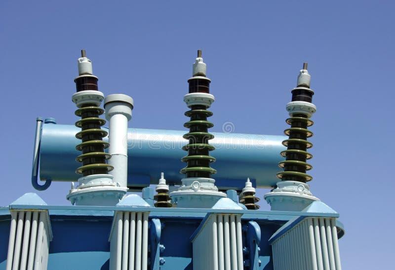 电油浸变压器 图库摄影