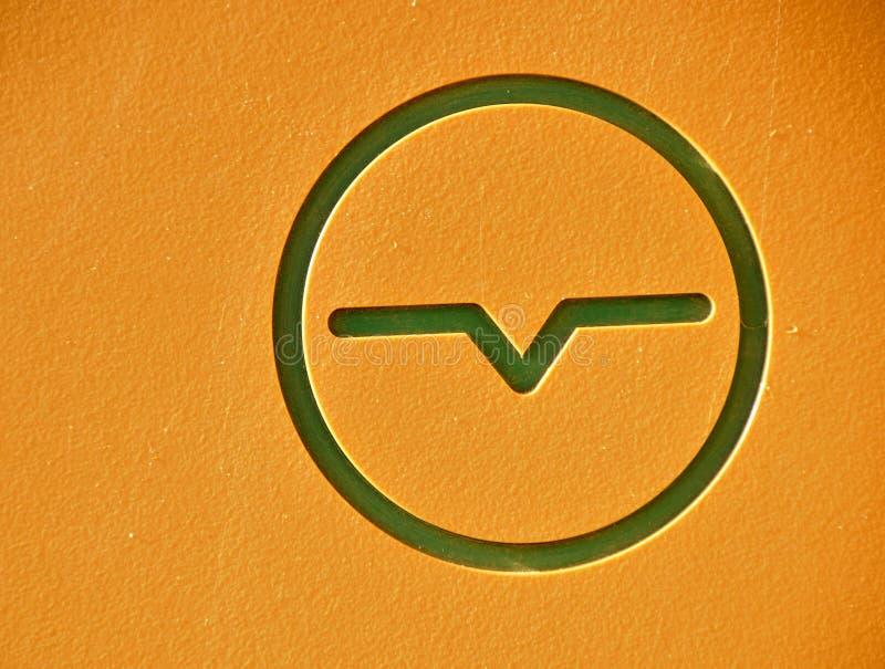 电测量仪符号 免版税库存图片