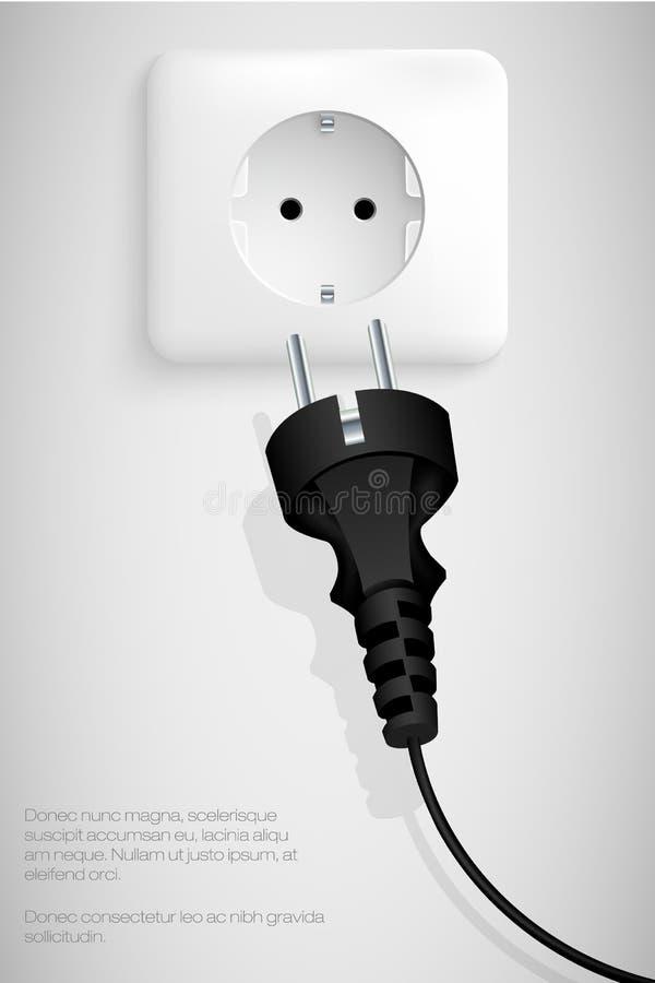 电源插头 向量例证