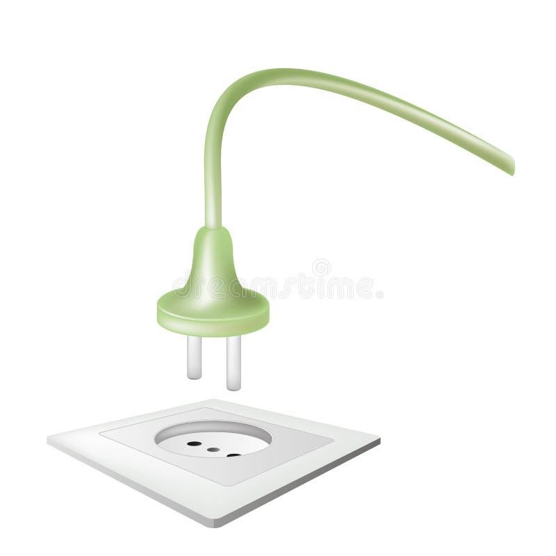 电火花塞电源插座 向量例证
