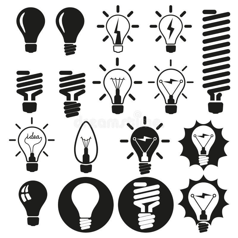 电灯泡。 电灯泡象集合 库存例证
