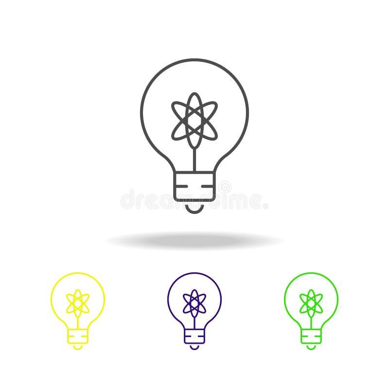 电灯泡上色了象 科学例证的元素 网站设计和发展的, app稀薄的线例证 库存例证
