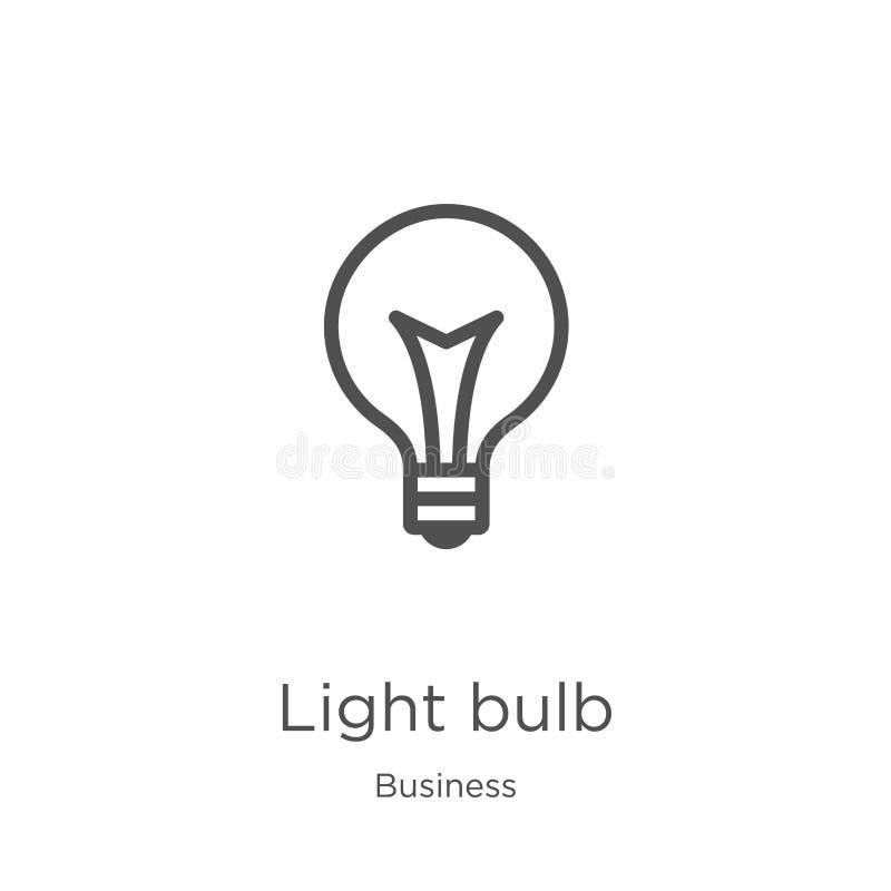 电灯泡从企业汇集的象传染媒介 稀薄的线电灯泡概述象传染媒介例证 概述,稀薄的线光 向量例证