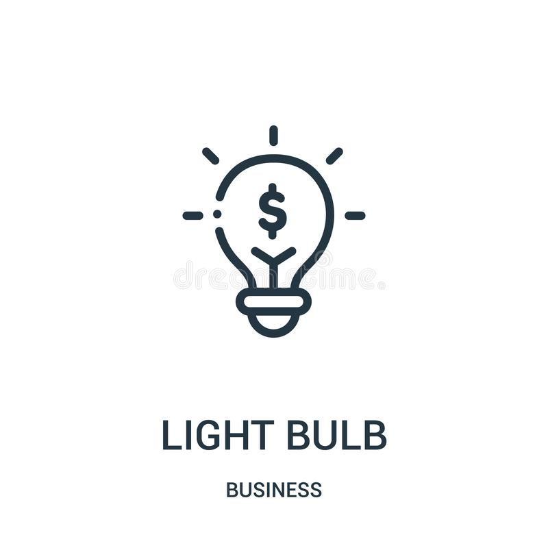 电灯泡从企业汇集的象传染媒介 稀薄的线电灯泡概述象传染媒介例证 r 皇族释放例证