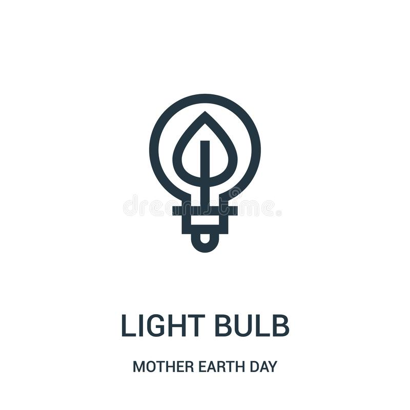 电灯泡从大地天汇集的象传染媒介 稀薄的线电灯泡概述象传染媒介例证 向量例证