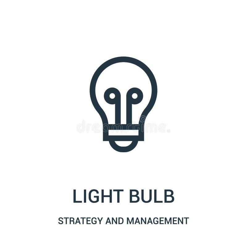 电灯泡从战略和管理汇集的象传染媒介 稀薄的线电灯泡概述象传染媒介例证 皇族释放例证