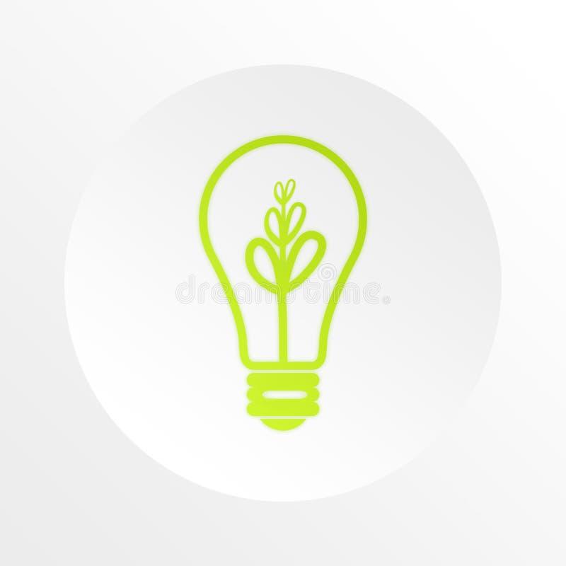 电灯泡企业想法信息 皇族释放例证