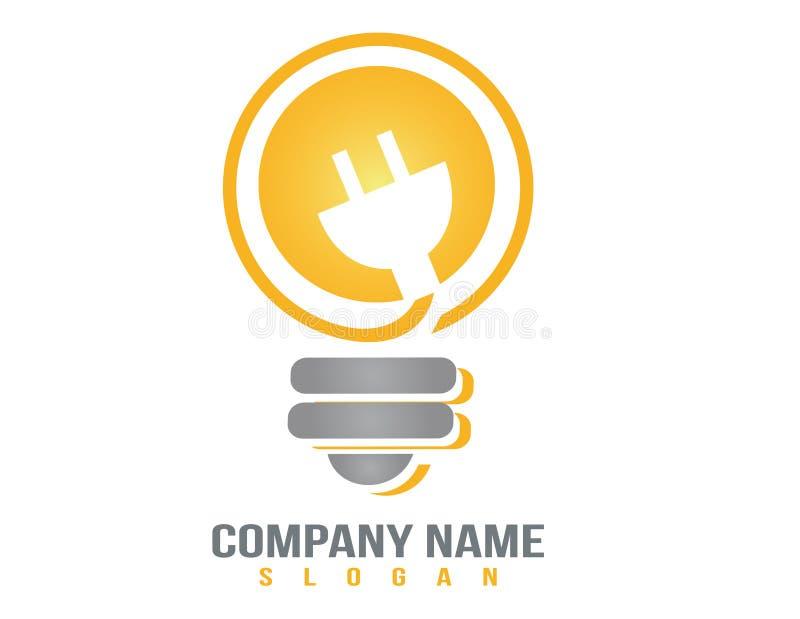 电灯泡传染媒介商标 向量例证