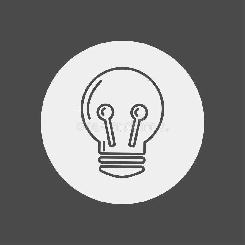 电灯泡传染媒介象标志标志 库存例证
